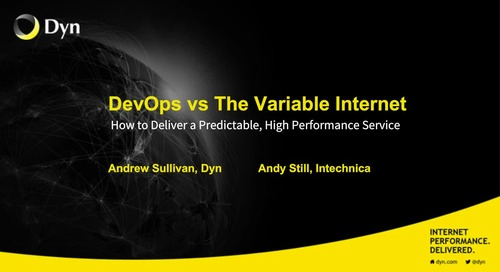 DevOps vs the Variable Internet -  Hosted by O'Reilly