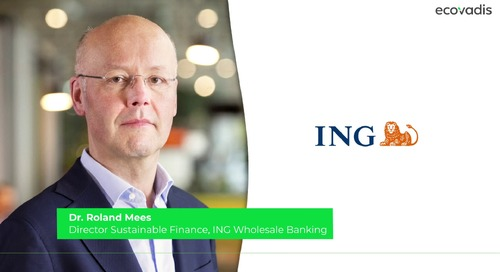 Dr. Roland Mees, Director of Sustainable Finance Talks About ING's Sustainability Improvement Loan