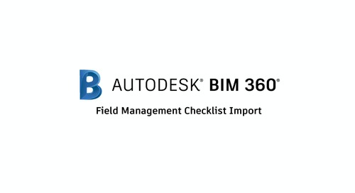Field Management Checklist Import