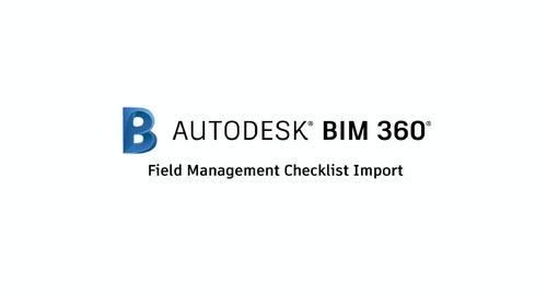 Field Management Checklist Import