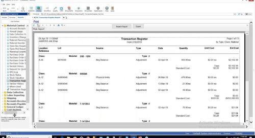Material Transaction User Tracking Utility Webinar