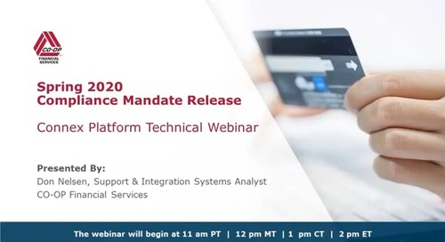 Spring 2020 Mandate Release - Technical Impacts - Connex