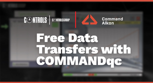 Free Data Transfers with COMMANDqc   Controls Group USA