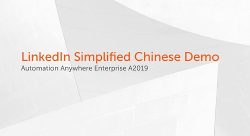 Enterprise A2019 Use Cases - LinkedIn Simplified Chinese Demo
