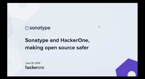 Sonatype and HackerOne Team Up to Make Open Source Safer
