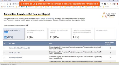 How to use Bot Scanner - Bot Migration
