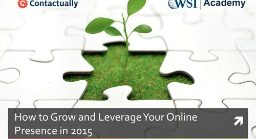 Getting a Head Start: How To Grow and Leverage Your Online Presence in 2015