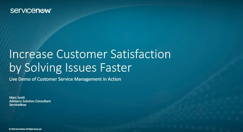 ServiceNow On-Demand Webinar: See Customer Service Management in Action