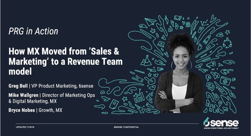 "PRG in Action | How MX Moved from ""Sales & Marketing"" to a Revenue Team Model"
