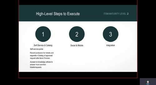 Video: Tips to Accelerate Your ITSM Maturity Journey