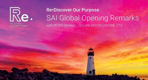 SAI Global Opening Remarks