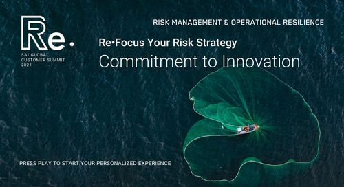 Re•Focus Your Risk Strategy | Commitment to Innovation