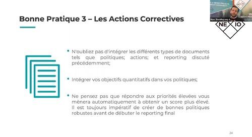 Meilleures pratiques afin de compléter votre questionnaire EcoVadis avec Nexio Projects