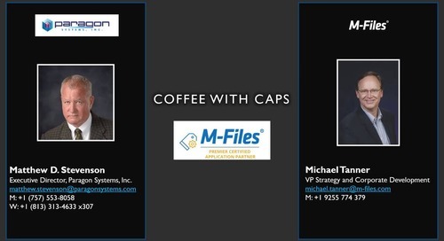 Information Innovation Podcast: Coffee with CAPs - Paragon Systems