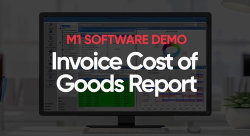 M1 Invoice Cost of Goods Report Demo