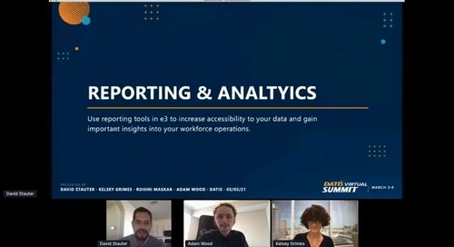 e3 Training: Reporting and Analytics