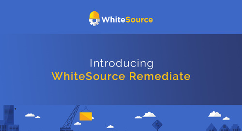 WhiteSource Remediate [Archived on May 14, 2019]