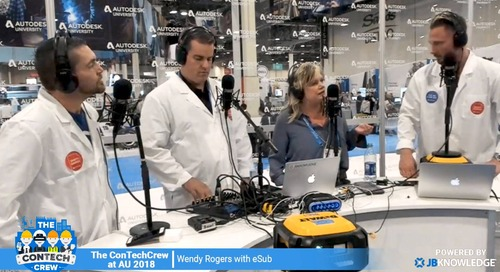 The ConTechCrew at AU 2018: Interview with Wendy Rogers from eSUB
