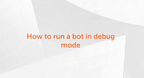 Enterprise A2019 - Building and Debugging a Bot with Several Variables