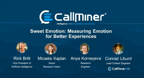 Sweet Emotion: Measuring Emotion for Better Experiences