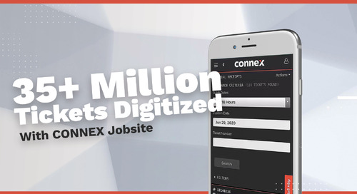 CONNEX Jobsite Digitizes Millions of Tickets