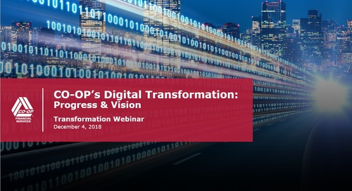 Transformation Webinar - CO-OP's Digital Transformation
