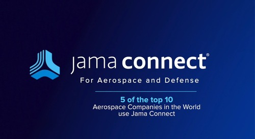 Jama Connect® for Aerospace and Defense