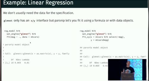 parsnip: A tidy model interface - Max Kuhn