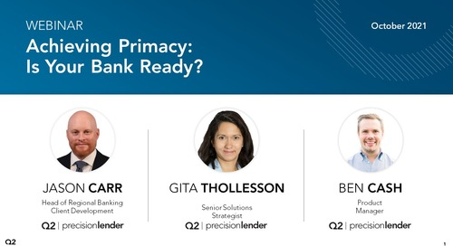 Achieving Primacy: Is Your Bank Ready?
