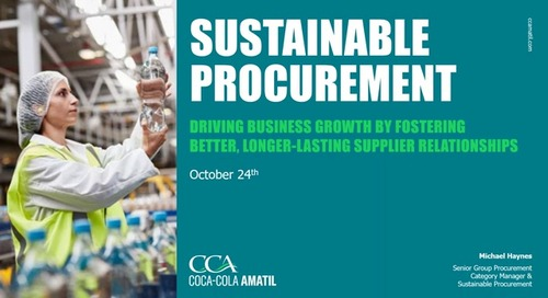 Coca-Cola Amatil: Driving business growth by fostering better, longer-lasting Supplier relationships