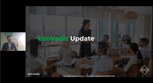 B2B Sustainability Forum: EcoVadis Update 2020