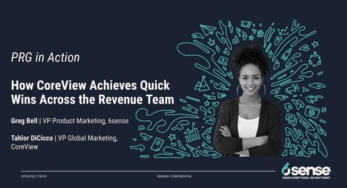 How CoreView Achieves Quick Wins Across the Revenue Team