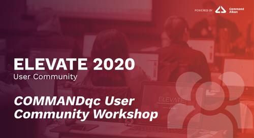 COMMANDqc User Community Workshop