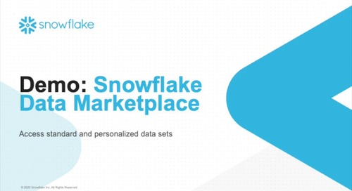 Getting Started with Snowflake Data Marketplace - Demo