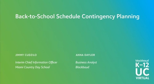 Back-to-School Schedule Contingency Planning