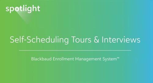 Self-Scheduling Enrollment Management