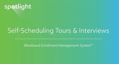 Self-Scheduling Tours & Interviews