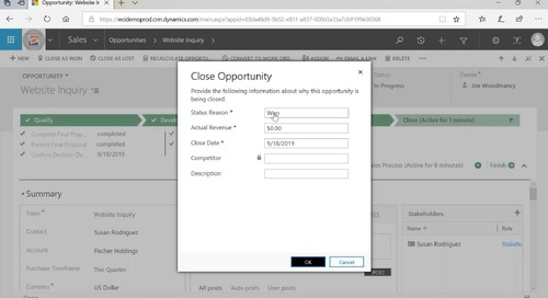 Automate Your Sales Processes with Dynamics 365 Sales