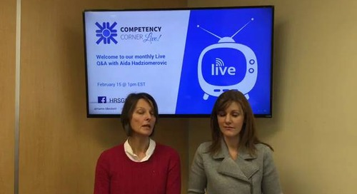CompetencyCorner Live - Feb 2018