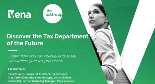 Discover the Tax Department of the Future