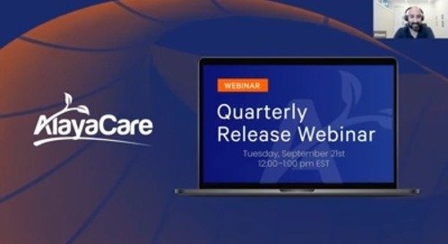 AlayaCare Quarterly Release Webinar (North America) - September 21, 2021