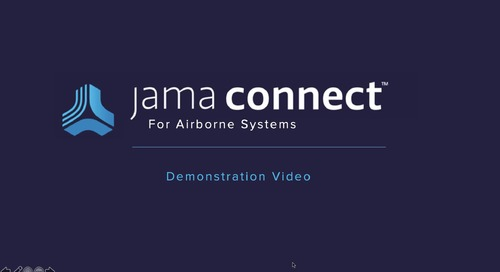 Jama Connect® for Airborne Systems Demo