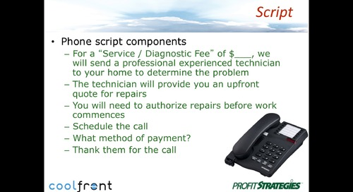Service Call Phone Scripts