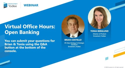 Virtual Office Hours - Open Banking Q&A