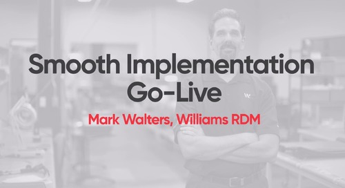 Williams RDM - Smooth Implementation Go-Live