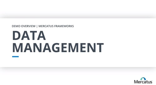 Data Management - Overview Demo
