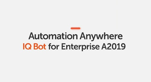 How to Use IQ Bot with a TaskBot in Automation Anywhere Enterprise A2019