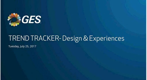 Webinar: Trend Tracker 2017 - Event Design & Experience