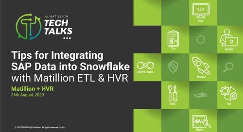 Tech Talk - Tips for Integrating SAP Data into Snowflake