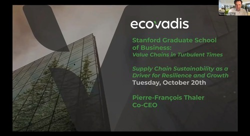 [Stanford Business School] Supply Chain Sustainability as a Driver for Resilience and Growth